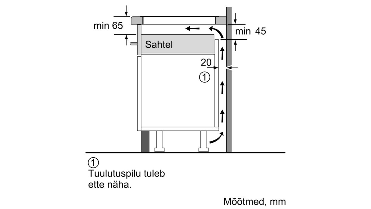 Bosch induktsioonpliidiplaadi paigaldus sahtli alla