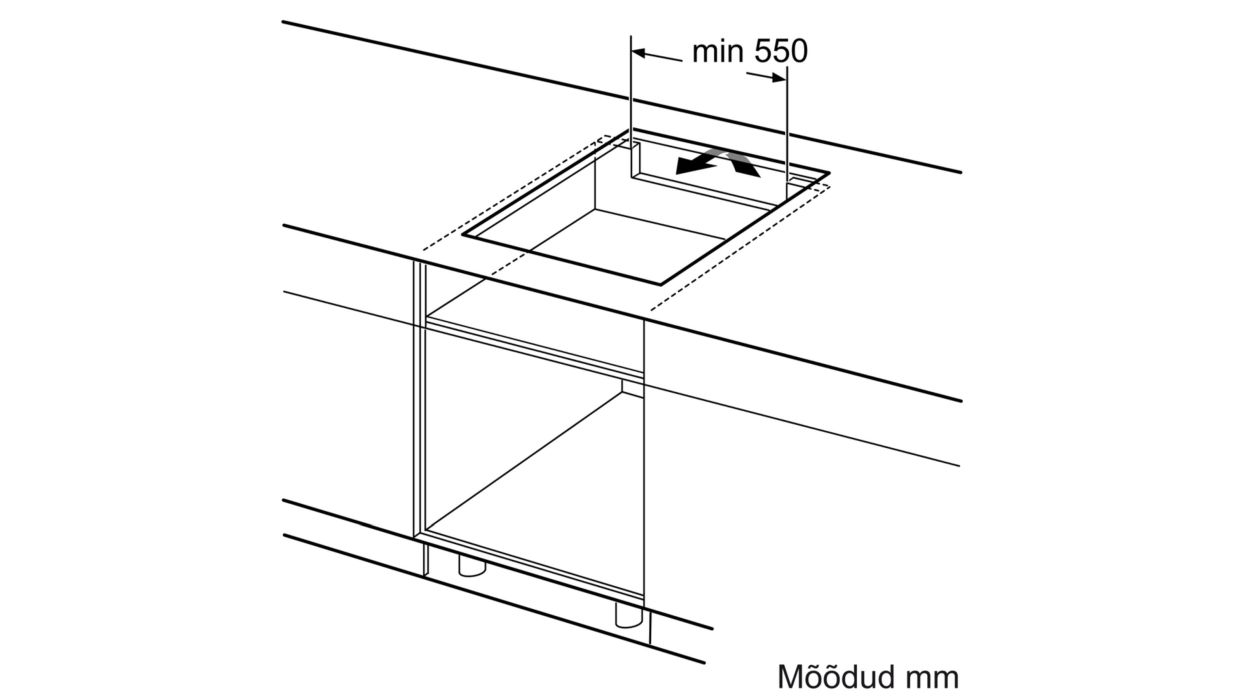 Bosch induktsioonpliidiplaadi paigaldus