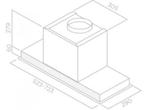 Integreeritav õhupuhasti Elica HIDDEN IX joonis