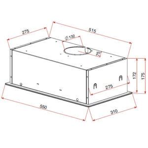 Integreeritav õhupuhasti Teka GFG2 joonis