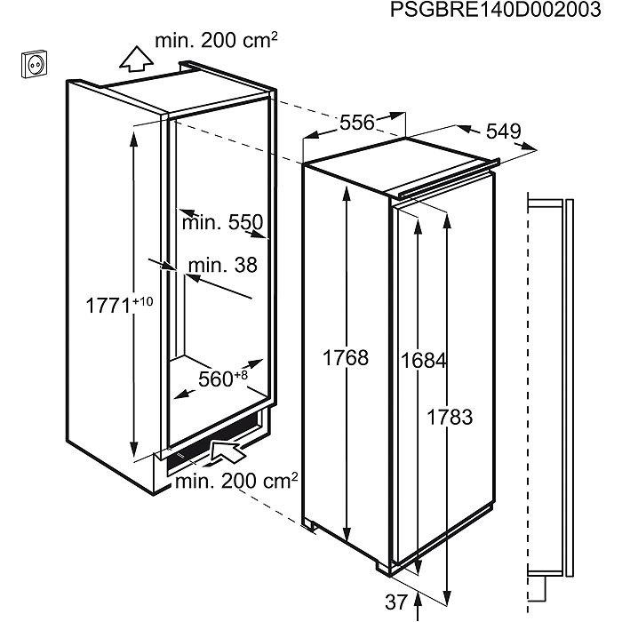 Integreeritav jahekapp AEG SKE81811DC joonis