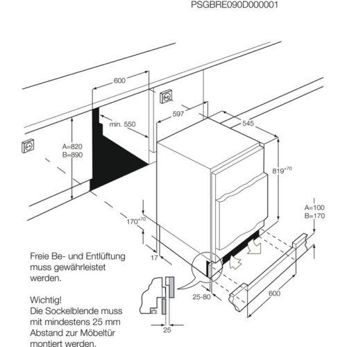 Integreeritav sügavkülmik AEG ABB68211AF joonis