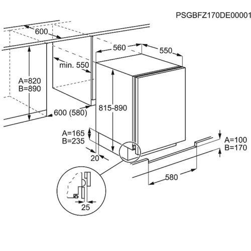 Integreeritav sügavkülmik Electrolux EUN1100FOW joonis