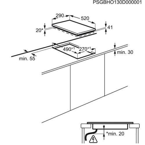 Keraamiline pliidiplaat Electrolux EHF3920BOK joonis