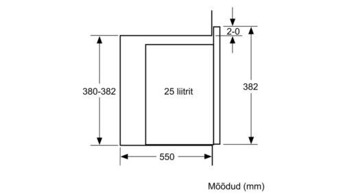 Integreeritav mikrolaineahi Bosch BEL554MS0