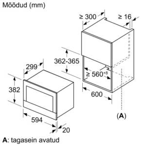 Integreeritav mikrolaineahi Bosch BFL834GC1 Carbon black