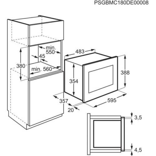 Integreeritav mikrolaineahi Electrolux LMS4253TMK