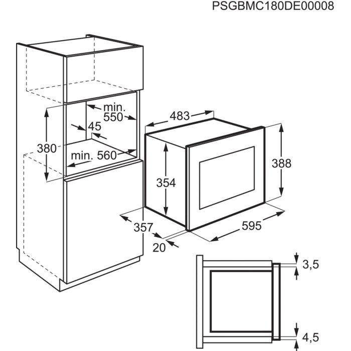 Integreeritav mikrolaineahi Electrolux LMS4253TMW