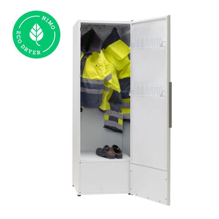Kuivatuskapp riietele NIMO ECO Dryer 2.0 Bod valge soojuspumbaga