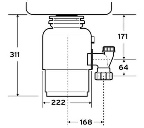Köögihunt toidujäätmete purustaja Evolution 150 InSinkErator