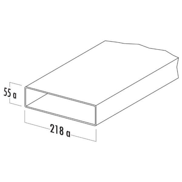 Ventilatsioonitoru ELICA 218x55x1000 valge plastik