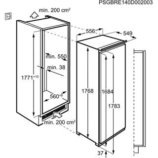 Integreeritav jahekapp Electrolux LRB3DE18C