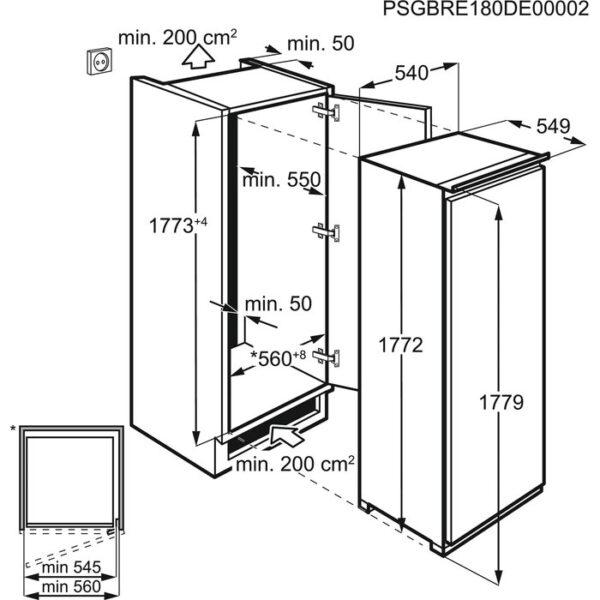 Integreeritav sügavkülmik Electrolux LUT6NF18S jäävaba